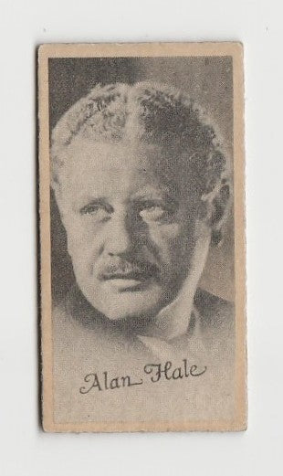 Alan Hale 1937 Peerless Cloudy Weight Machine Trading Card
