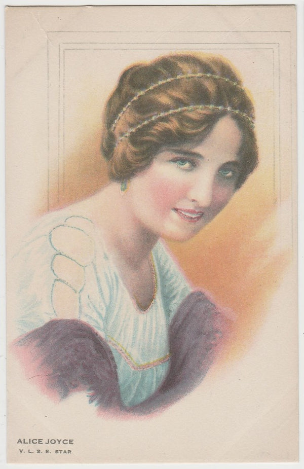 Alice Joyce 1920s Juncosa Tall PAPER STOCK Trading Card #L-15 Film Star