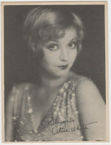 ALICE WHITE Vintage 1930s Estrellas del Cine #73 POSTCARD from Spain