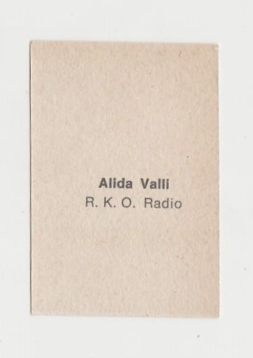 Alida Valli 1940s Paper Stock Trading Card - Film Frame Design