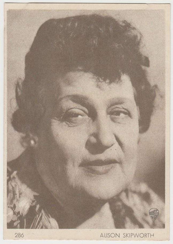 Alison Skipworth 1930s Aguila Large Paper Stock Trading Card #286