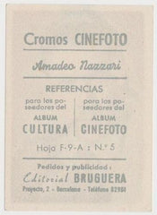 Amedeo Nazzari 1930s Editorial Bruguera Cinefoto Paper Stock Trading Card #5