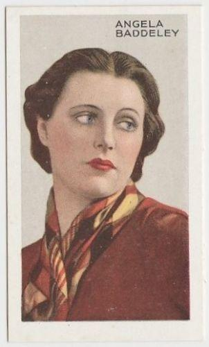 Angela Baddeley 1935 Gallaher Stars of Screen and Stage Tobacco Card #23