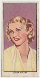 Anita Louise 1939 Mars Confections Famous Film Stars Trading Card #29