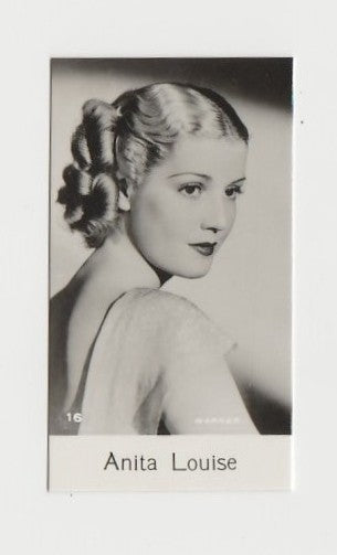 Anita Louise 1940 Bridgewater Film Stars Small Trading Card - Series 8 #16