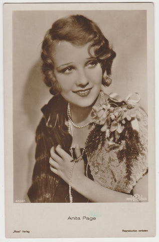 ANITA PAGE Vintage 1929 Wilder MOVIE-LAND KEENO Game Card