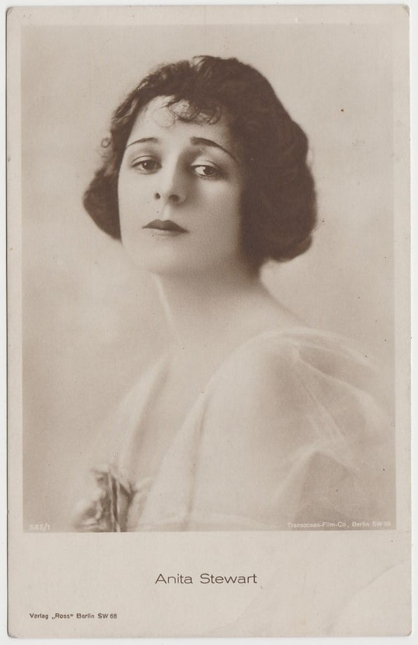 Anita Stewart 1916 MJ Moriarty Silent Film Star Playing Card