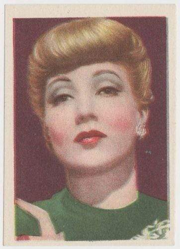Ann Sothern 1930s Editorial Bruguera Cinefoto Paper Stock Trading Card #3