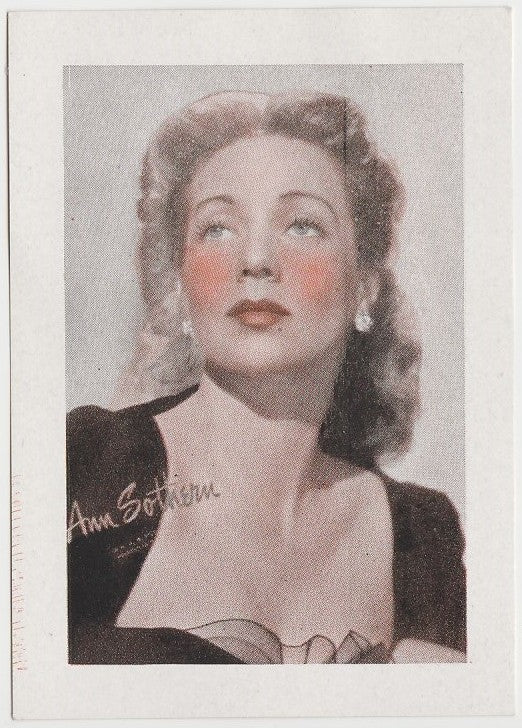 Ann Sothern 1940s Vintage WW2 Era Paper Stock Trading Card or Picture