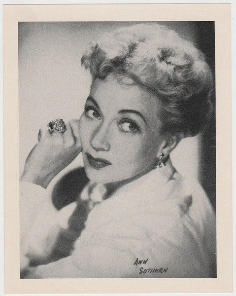 Ann Sothern 1938 Transogram Movie Millions Game Card - Film Star