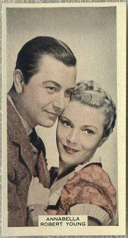 Annabella + Robert Young 1939 A & M Wix Film Favourites Tobacco Card #59