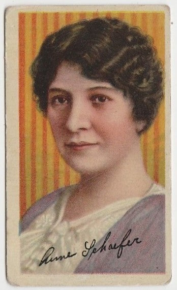 Anne Schaefer circa 1916 T82 Recruit Movie Stars Trading Card - US Issue