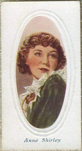 Anne Shirley 1936 Godfrey Phillips Screen Stars Tobacco Card #10