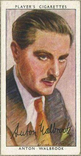 Anton Walbrook 1938 John Player Film Stars Tobacco Card 3rd Series #50