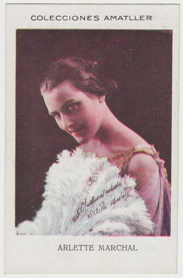Arlette Marchal 1920s Chocolate Amatller Trading Card #LL-16-43