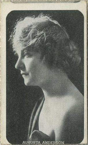 Augusta Anderson Vintage 1910s Kromo Gravure Trading Card - Rounded Border Type