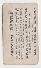 Neil Hamilton 1920s Chocolate Nestle Film Stars Trading Card from Uruguay #B-7