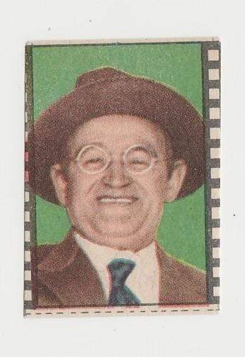 Barry Fitzgerald 1940s Paper Stock Trading Card - Film Frame Design