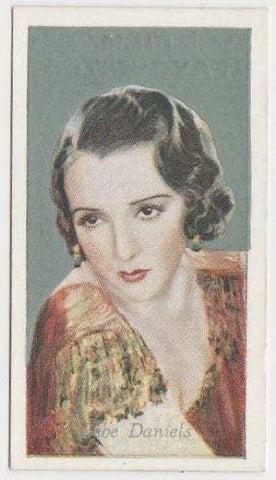 Bebe Daniels 1934 Godfrey Phillips Film Favourites Tobacco Card #34