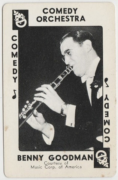 Benny Goodman 1938 Transogram Movie Millions Game Card