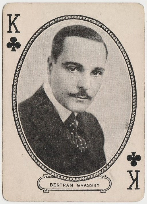 Bertram Grassby 1916 MJ Moriarty Silent Film Star Playing Card