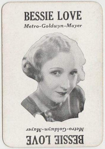 BESSIE LOVE Vintage 1929 Wilder MOVIE-LAND KEENO Game Card
