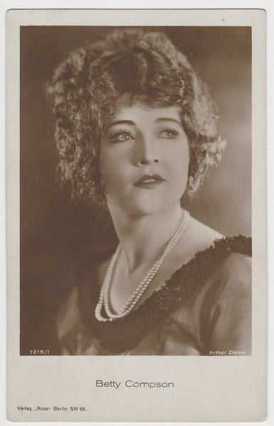 BETTY COMPSON Vintage 1929 Wilder MOVIE-LAND KEENO Game Card