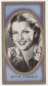 Betty Furness 1938 Carreras Film Favourites Tobacco Card #44 - Movie Star NM