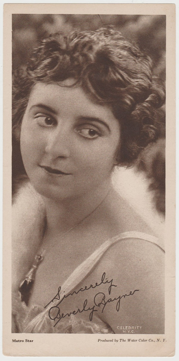 Beverly Bayne 1916 MJ Moriarty Silent Film Star Playing Card