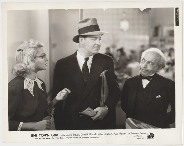 Claire Trevor + Alan Dinehart 1937 STILL PHOTO Big Town Girl 339-35