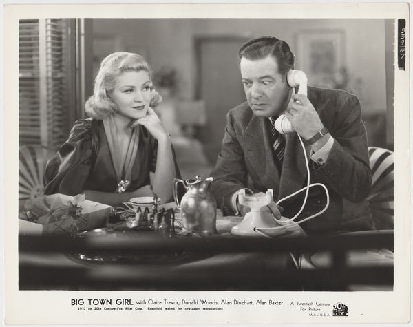 Claire Trevor + Alan Dinehart 1937 STILL PHOTO Big Town Girl 339-47