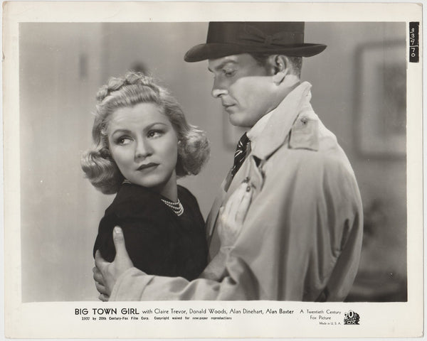 Claire Trevor + Alan Baxter 1937 STILL PHOTO Big Town Girl 339-70