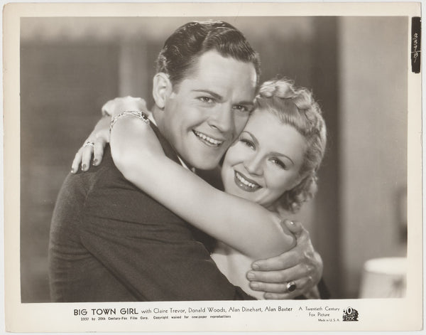 Claire Trevor + Donald Woods 1937 STILL PHOTO Big Town Girl 339-81
