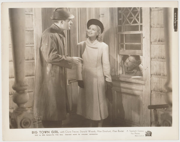 Claire Trevor + Donald Woods 1937 STILL PHOTO Big Town Girl 339-91