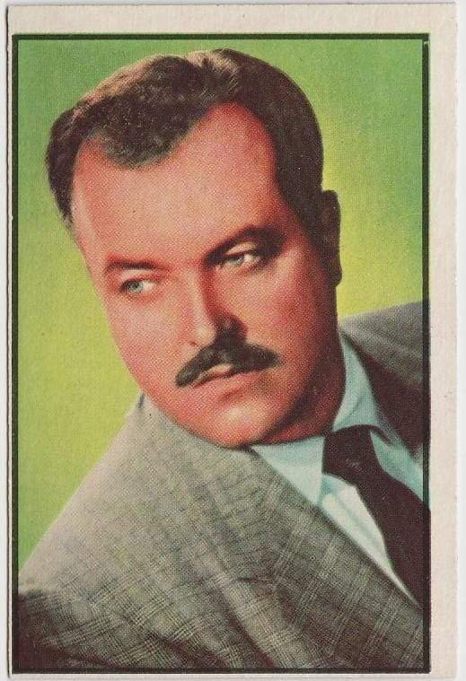 Bill Conrad 1953 BOWMAN Television and Radio Stars of NBC Trading Card #40