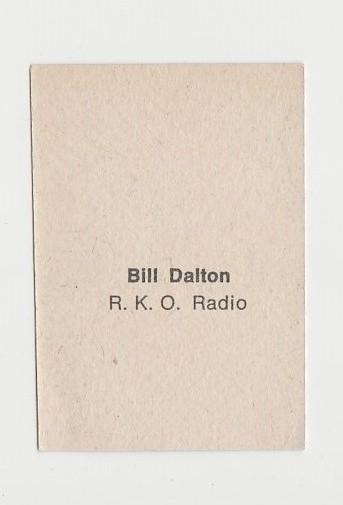 Bill Dalton 1940s Paper Stock Trading Card - Film Frame Design - Western Outlaw