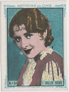 Billie Dove 1920s Kashin Motion Picture Stars Large Trading Card W618