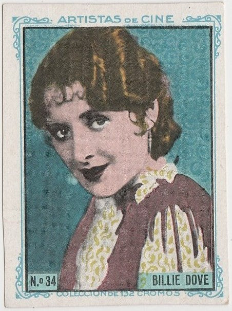 Billie Dove 1930s Artistas de Cine Paper Stock Trading Card #34