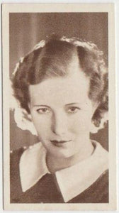 Binnie Barnes 1934 United Kingdom Tob. Co. Cinema Stars Tobacco Card #6