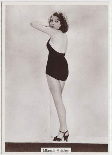 Blanca Vischer 1938 Godfrey Phillips Beauties of To-Day XL Tobacco Card S5 #8