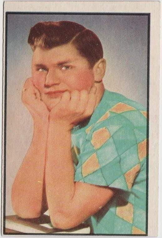 Bob Hastings 1953 BOWMAN Television and Radio Stars of NBC Trading Card #38