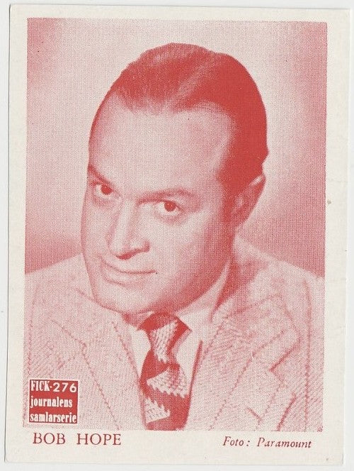 Bob Hope rare 1950s FICK Journalen Paper Stock Trading Card from Sweden