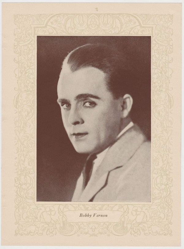 Bobby Vernon 1923 MPDA Popular Film Folk 8 X 10.75 Printed Photo
