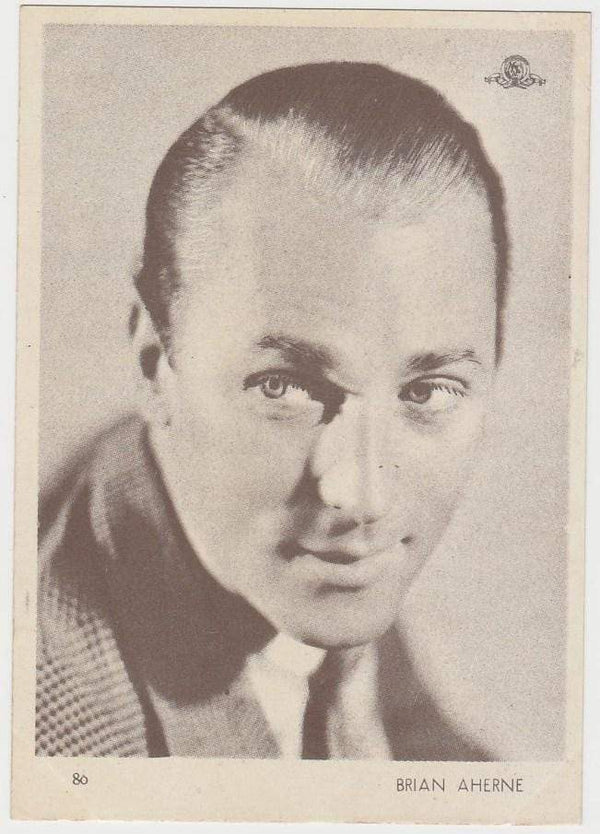 Brian Aherne 1930s Aguila Large Paper Stock Trading Card #80