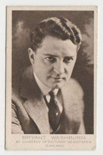 Bryant Washburn 1923 Bucktrout Cinema Stars Tobacco Card #47