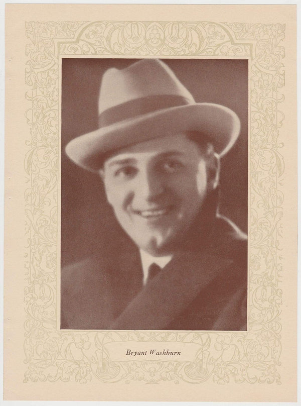 Bryant Washburn 1923 MPDA Popular Film Folk 8 X 10.75 Printed Photo