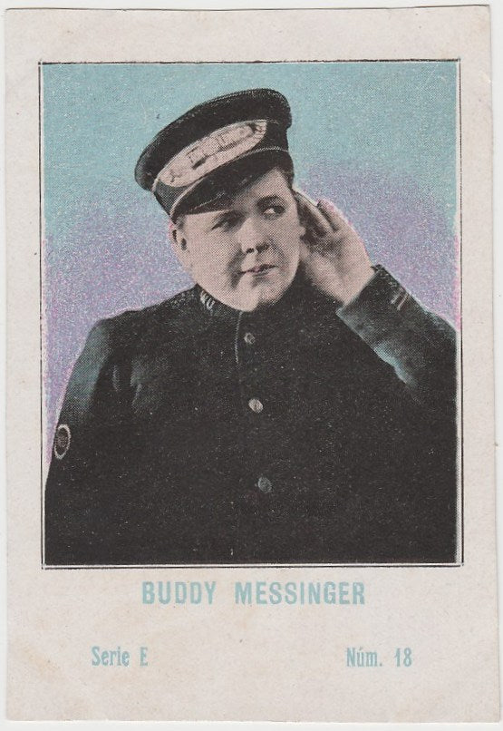 Buddy Messinger 1920s Juncosa PAPER STOCK Trading Card #E-18