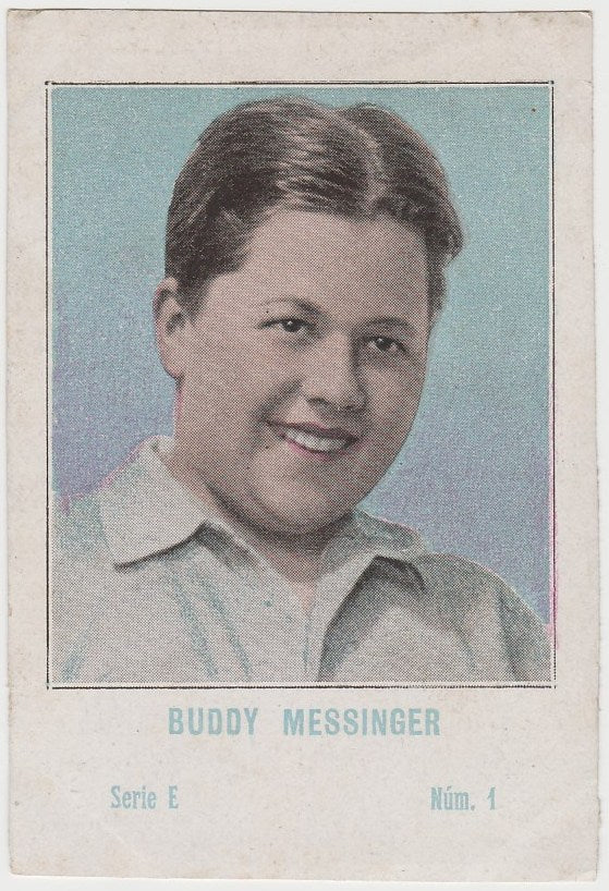 Buddy Messinger 1920s Juncosa PAPER STOCK Trading Card #E-1
