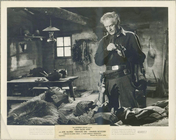 Charles Bickford checks gun 1948 8x10 Still Photo FOUR FACES WEST Western TP-73