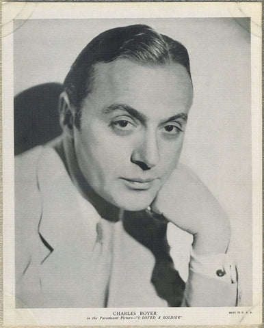 Charles Boyer 1936 R95 8x10 Linen Textured Premium Photo - I LOVED A SOLDIER